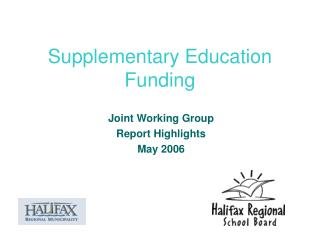 Supplementary Education Funding