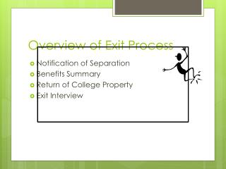 Overview of Exit Process