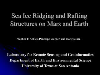 Sea Ice Ridging and Rafting Structures on Mars and Earth