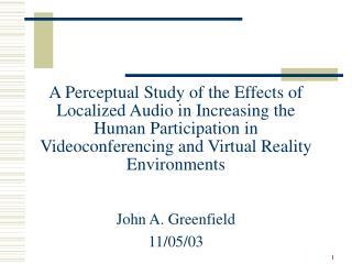 John A. Greenfield 11/05/03