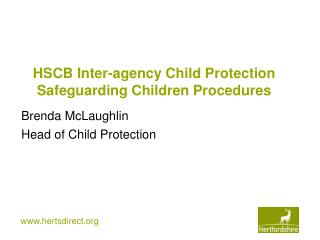 HSCB Inter-agency Child Protection Safeguarding Children Procedures