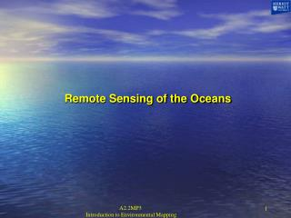Remote Sensing of the Oceans