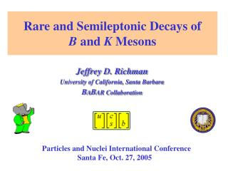 Rare and Semileptonic Decays of  B  and  K  Mesons