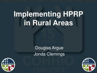Implementing HPRP in Rural Areas