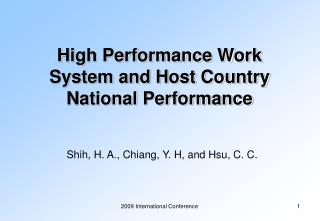 High Performance Work System and Host Country National Performance