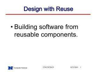 Design with Reuse