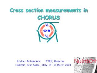 Cross section measurements in CHORUS