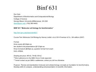 Binf 631