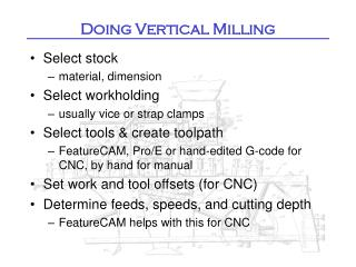 Doing Vertical Milling