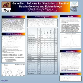 GenetSim:  Software for Simulation of Familial Data in Genetics and Epidemiology Michael B. Miller  Na Michael Li Univer