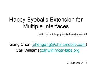 Happy Eyeballs Extension for Multiple Interfaces