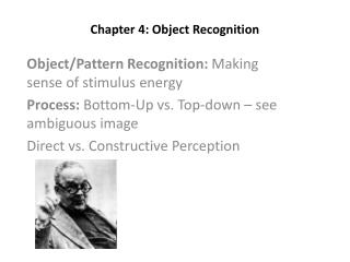 Chapter 4: Object Recognition