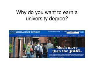 Why do you want to earn a university degree?