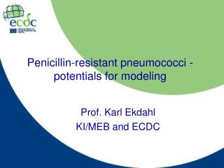 Penicillin-resistant pneumococci - potentials for modeling