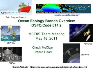 Ocean Ecology Branch Overview GSFC/Code 614.2 MODIS Team Meeting May 18, 2011