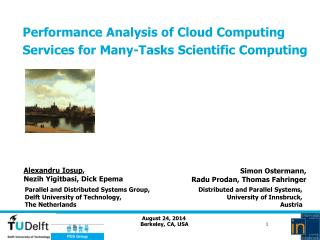 Performance Analysis of Cloud Computing Services for Many-Tasks Scientific Computing