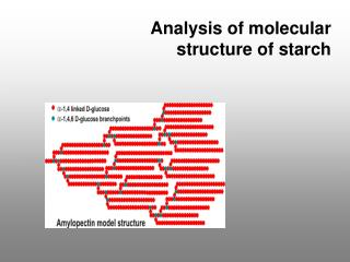 Analysis of molecular structure of starch