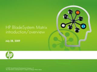HP BladeSystem Matrix introduction/overview