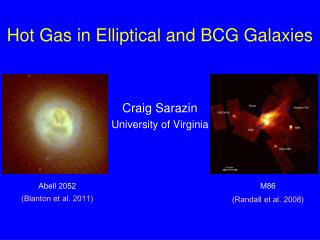 Hot Gas in Elliptical and BCG Galaxies