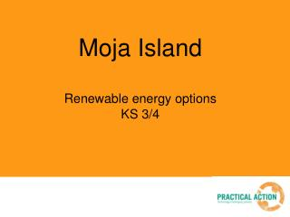 Moja Island Renewable energy options KS 3/4