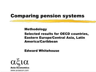 Comparing pension systems