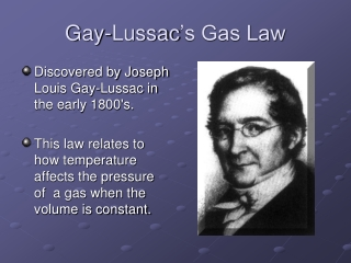 Gay-Lussacs Law