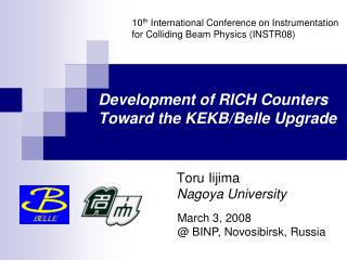 Development of RICH Counters Toward the KEKB/Belle Upgrade