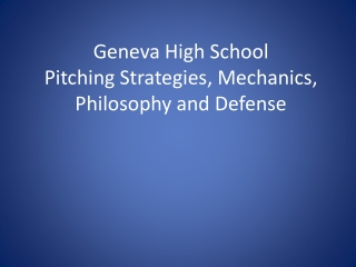 GENEVA HIGH SCHOOL