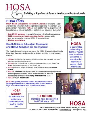 HOSA Facts