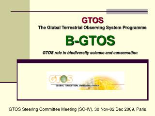 GTOS The Global Terrestrial Observing System Programme