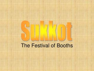 The Festival of Booths