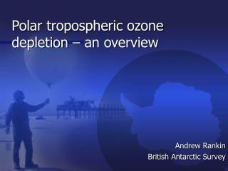 Polar tropospheric ozone depletion – an overview