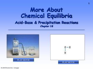 More About  Chemical Equilibria Acid-Base & Precipitation Reactions Chapter 18