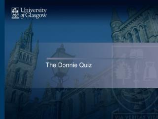 The Donnie Quiz
