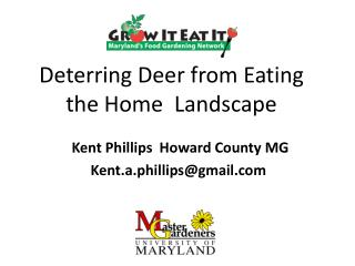 Deterring Deer from Eating the Home  Landscape