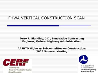 FHWA VERTICAL CONSTRUCTION SCAN