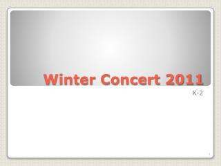 Winter Concert 2011