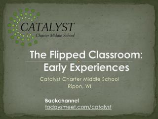 The Flipped Classroom:  Early Experiences