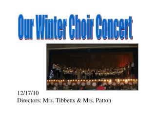 Our Winter Choir Concert