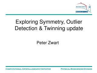 Exploring Symmetry, Outlier Detection & Twinning update