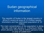 Sudan geographical information