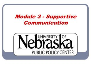 Module 3 - Supportive Communication