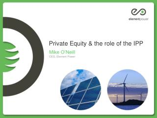 Private Equity & the role of the IPP