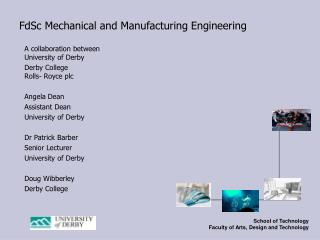FdSc Mechanical and Manufacturing Engineering