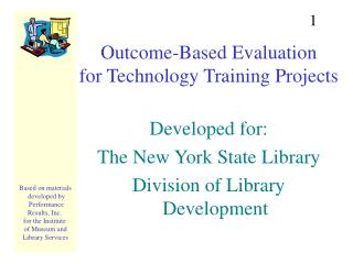 Outcome-Based Evaluation for Technology Training Projects