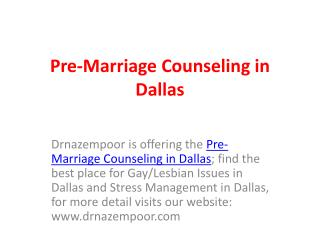 Pre-Marriage Counseling in Dallas