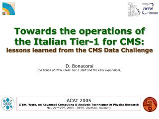 Towards the operations of the Italian Tier-1 for CMS: lessons learned from the CMS Data Challenge