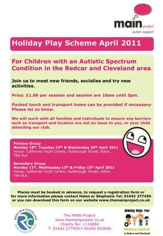 Holiday Play Scheme April 2011