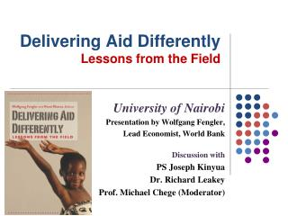 Delivering Aid Differently Lessons from the Field