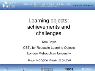 Learning objects: achievements and challenges